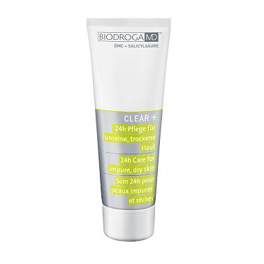 Biodroga MD 24 Stunden Pflege für unreine trockene Haut Clear+ 75 ml 43618 oh-so-pure
