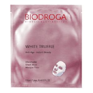 Biodroga Vliesmaske mit weißem Trüffel, oh-so-pure